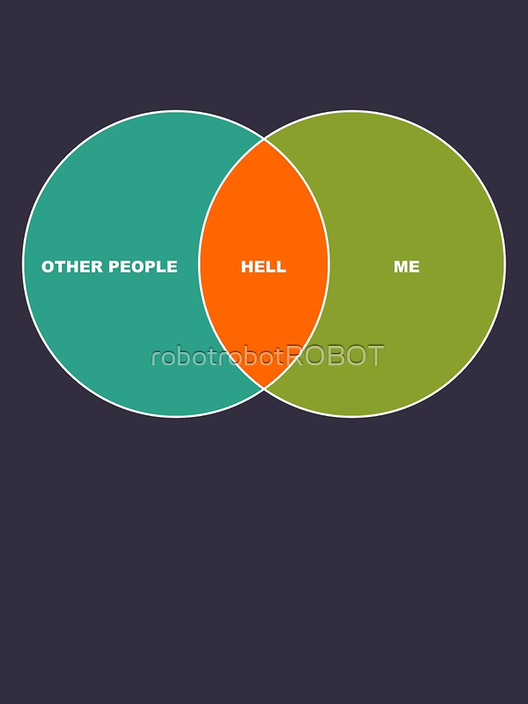 Hell is Other People - Venn Diagram | Unisex T-Shirt