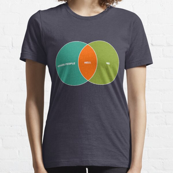 Hell is Other People - Venn Diagram Essential T-Shirt