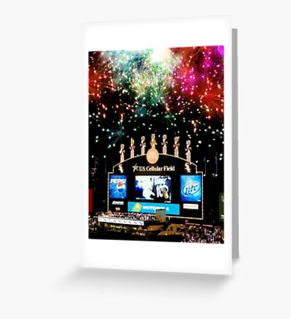 chicago white sox home run fireworks Greeting Card
