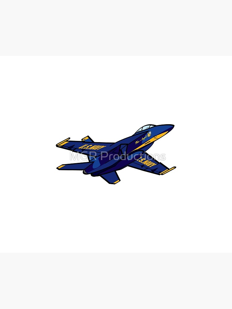 Pencil and Ink Blue Angels' F-18 Hornet by Quatrosales