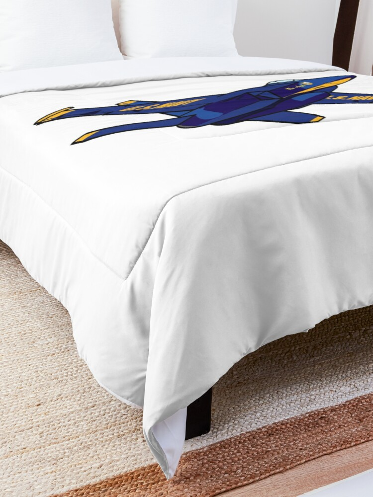 Alternate view of Pencil and Ink Blue Angels' F-18 Hornet Comforter