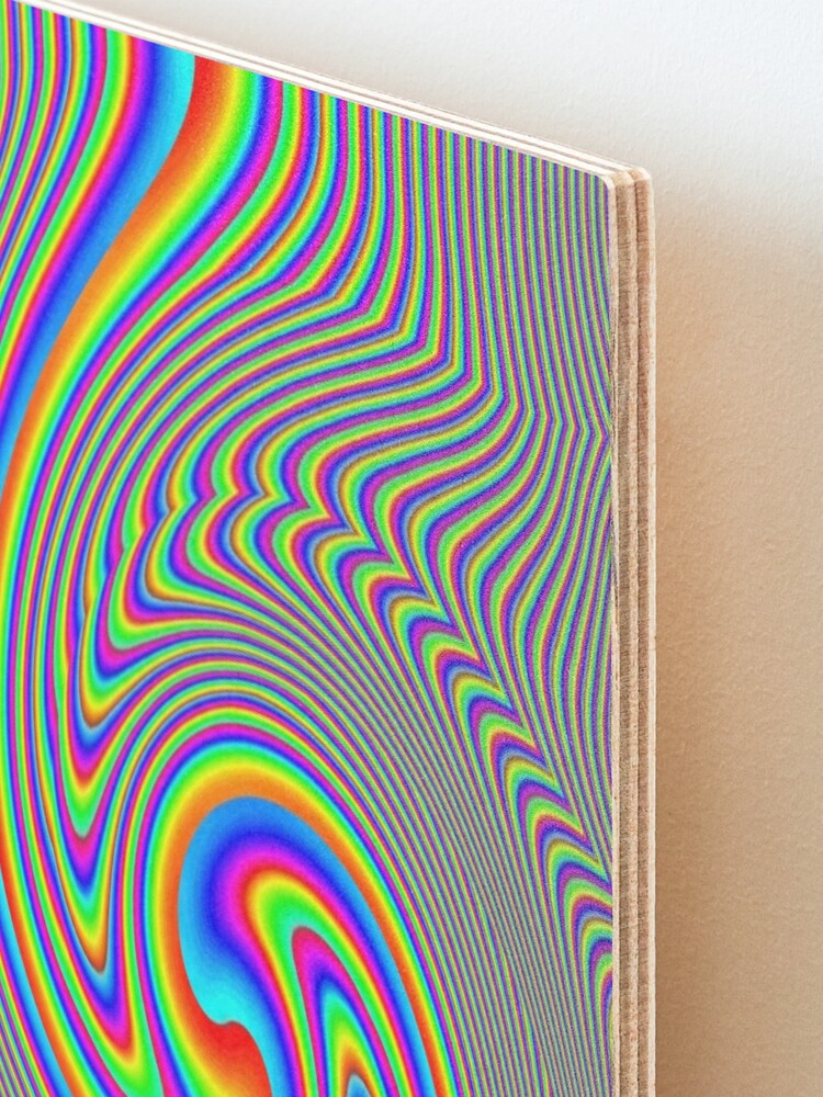 Alternate view of #Vortex, #twist, #illusion, #abstract, design, pattern, illustration, psychedelic, repetition, art, decoration, creativity, twirl, hypnosis Mounted Print