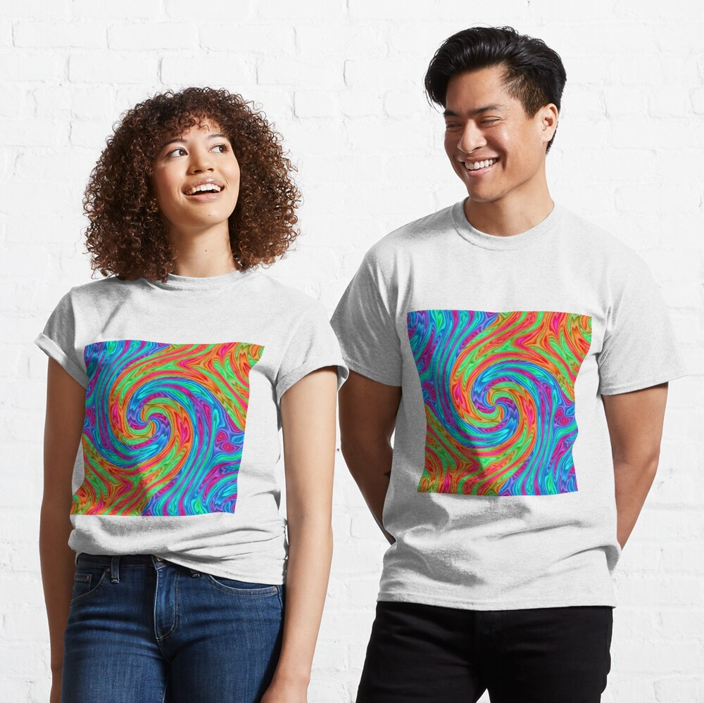 #Vortex, #twist, #illusion, #abstract, design, pattern, illustration, psychedelic, repetition, art, decoration, creativity, twirl, hypnosis Classic T-Shirt