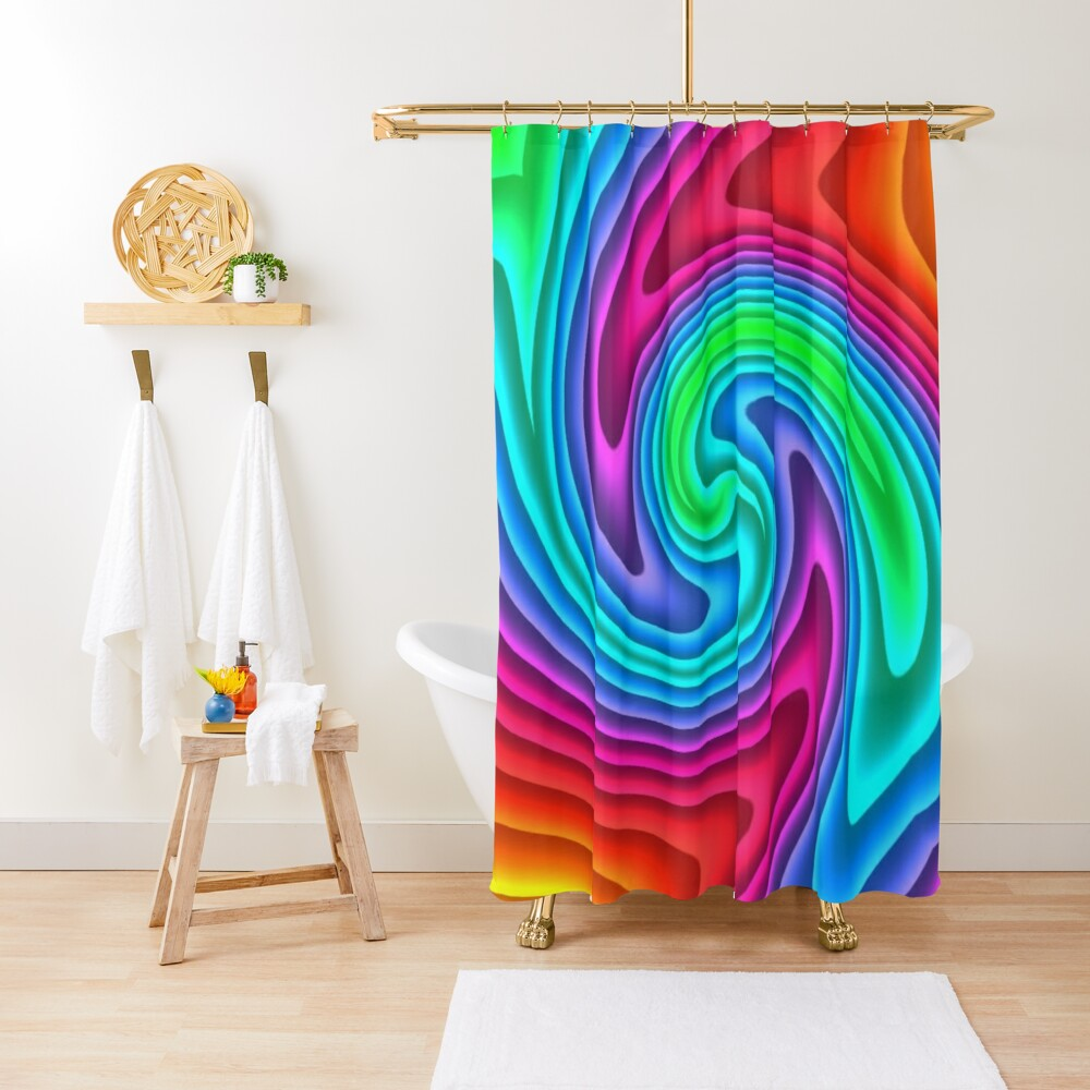 #Vortex, #twist, #illusion, #abstract, design, pattern, illustration, psychedelic, repetition, art, decoration, creativity, twirl, hypnosis Shower Curtain