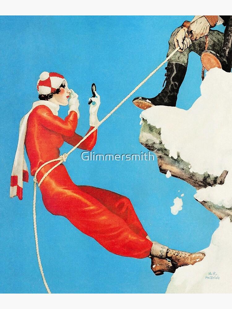 Playful control mountain climbing couple playful fashion art by Glimmersmith