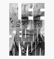 BIGBANG Seungri 'Lee Seung Hyun' Typography Photographic Print