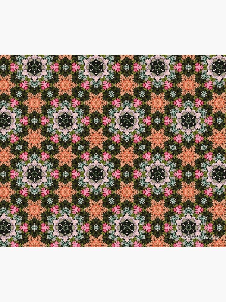 Flower Star Patch Photo Kaleidoscope Pattern by patternsoup