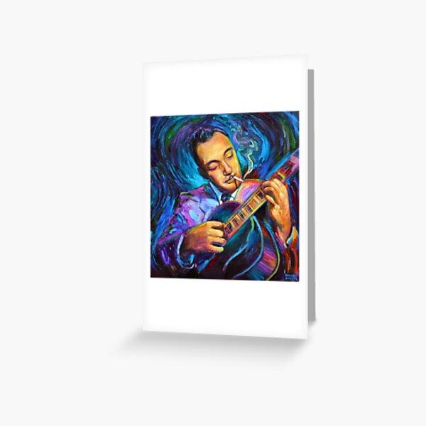 Django Reinhardt Gypsy Jazz Guitarist by Robert Phelps Greeting Card
