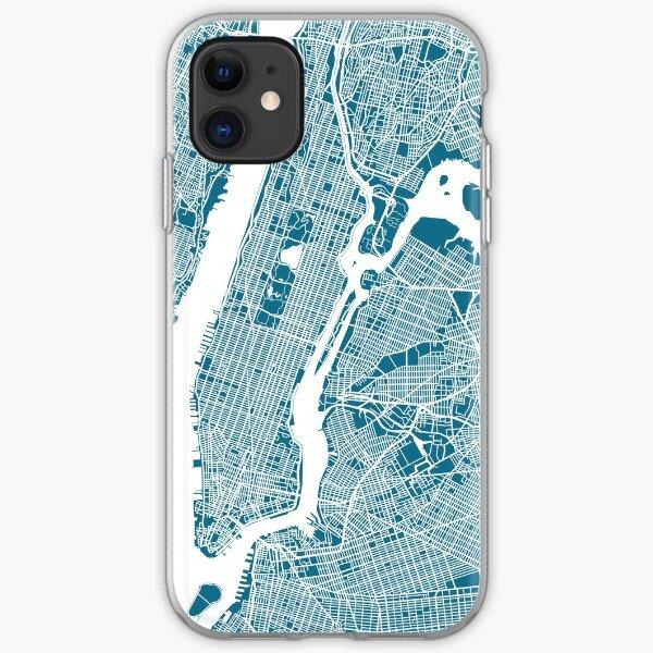 US-Stadtplan-Kunstdruck. iPhone Flexible Hülle
