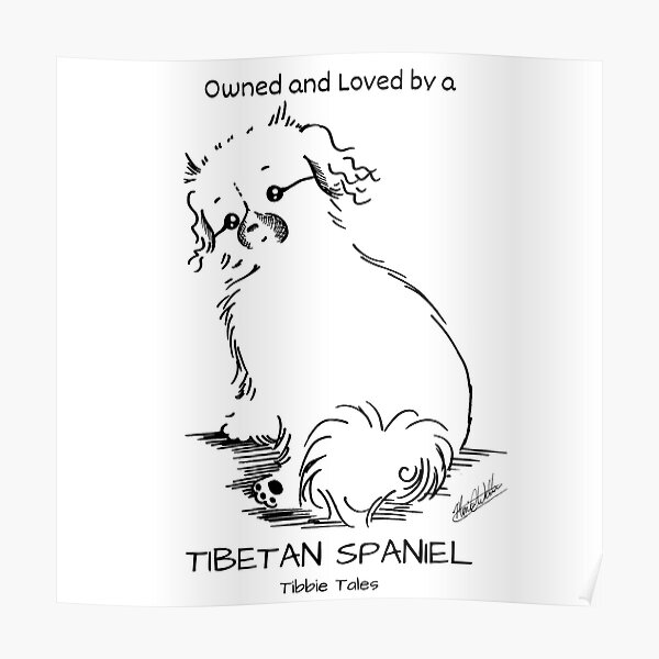 Owned and Loved by a Tibetan Spaniel Poster