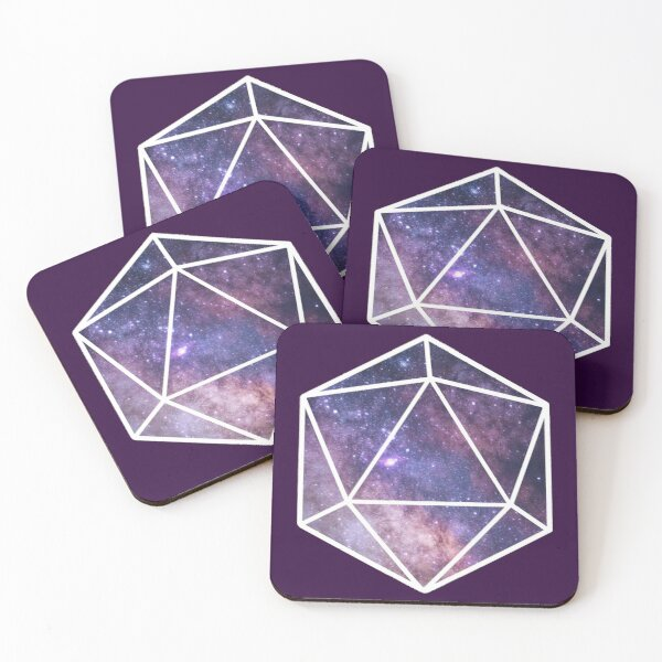 Cosmic D20 Coasters (Set of 4)