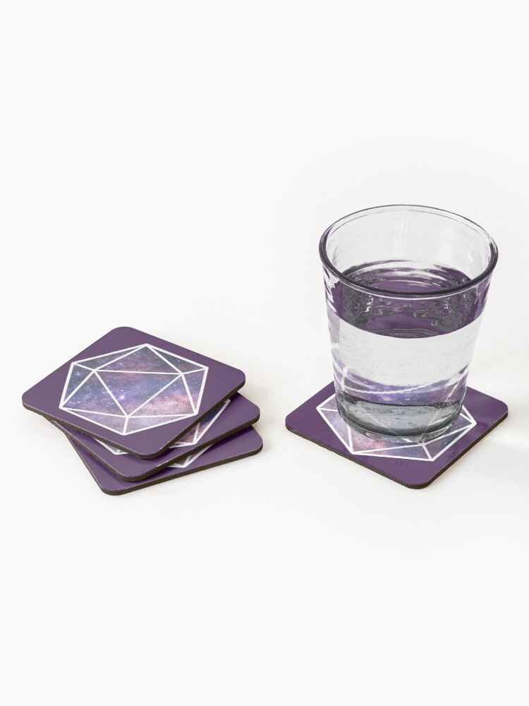 Alternate view of Cosmic D20 Coasters (Set of 4)