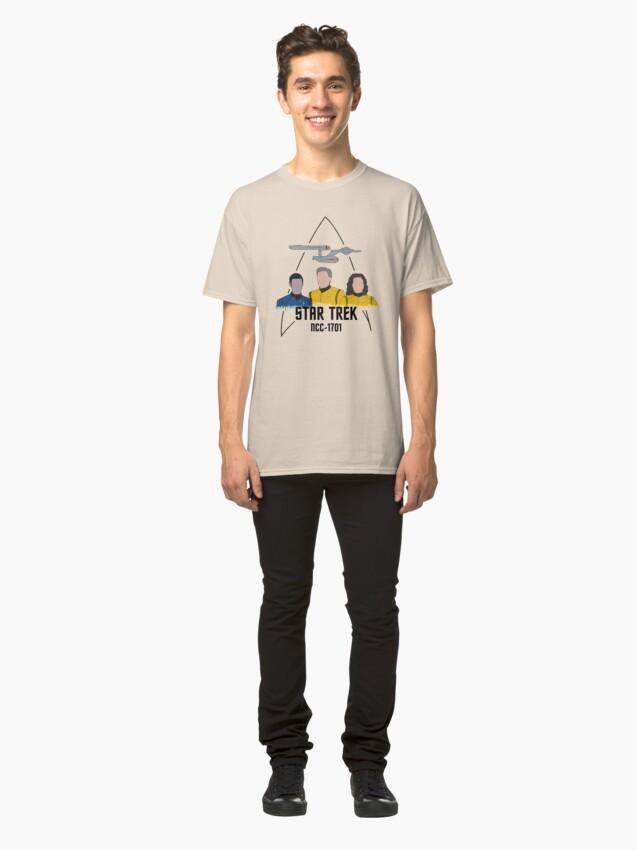 T-shirt classique ''Équipage de pont NCC-1701': autre vue