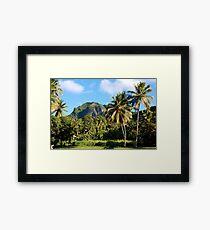 Cook Islands - Rarotonga highlands Framed Print