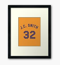 Earl Manigault 32 J.C. Smith College Basketball Framed Print