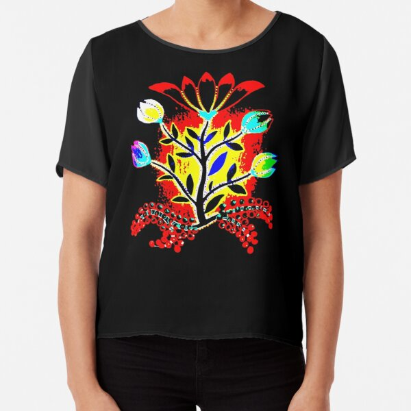 Slavic Flower 2 Chiffon Top