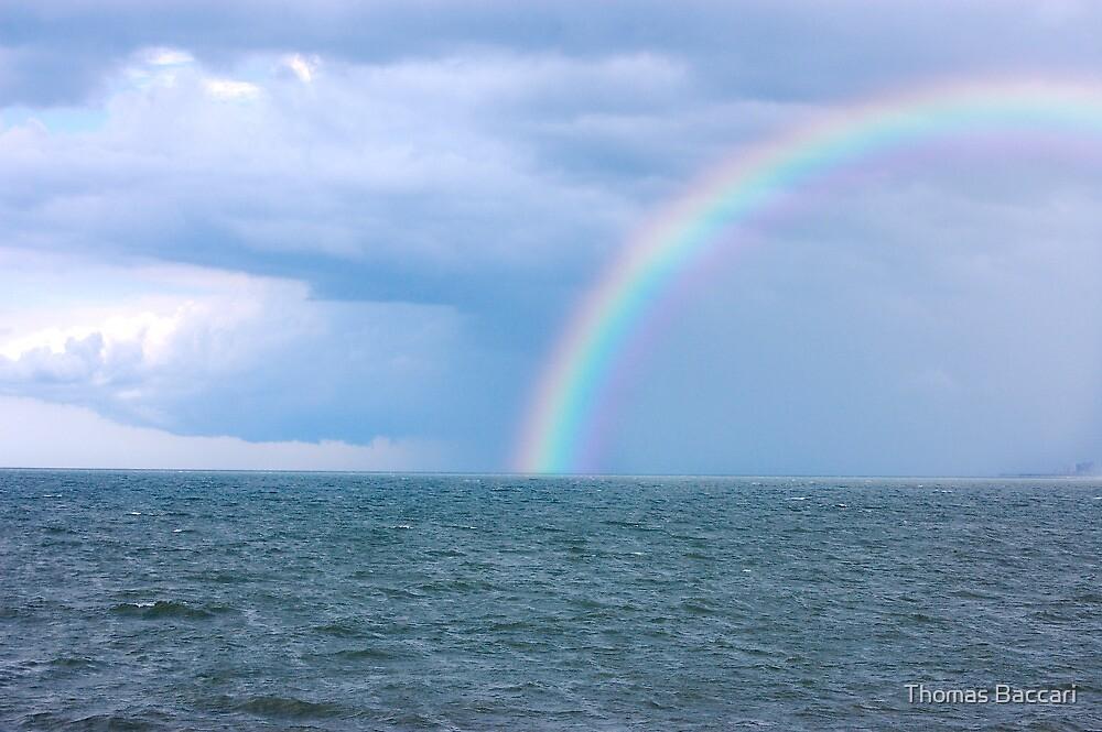 OCEAN STORM RAINBOW by TJ Baccari Photography