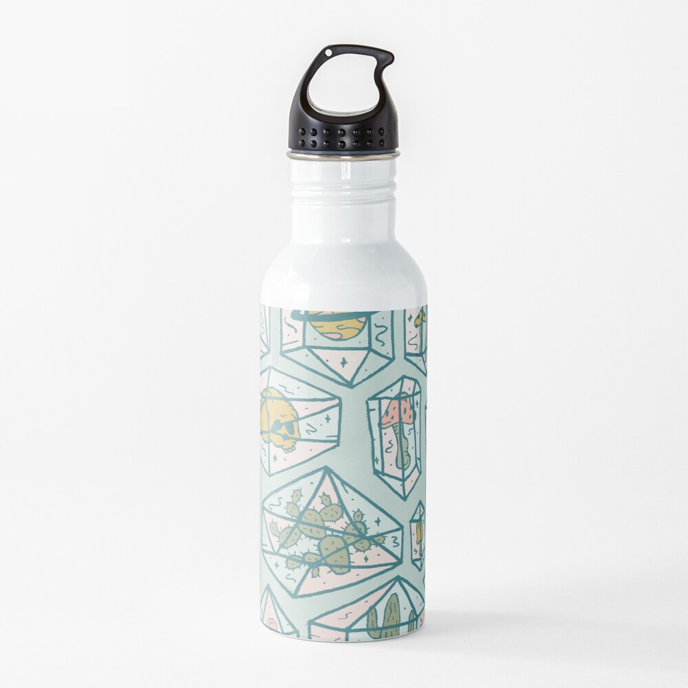 Crystals and Plants Water Bottle