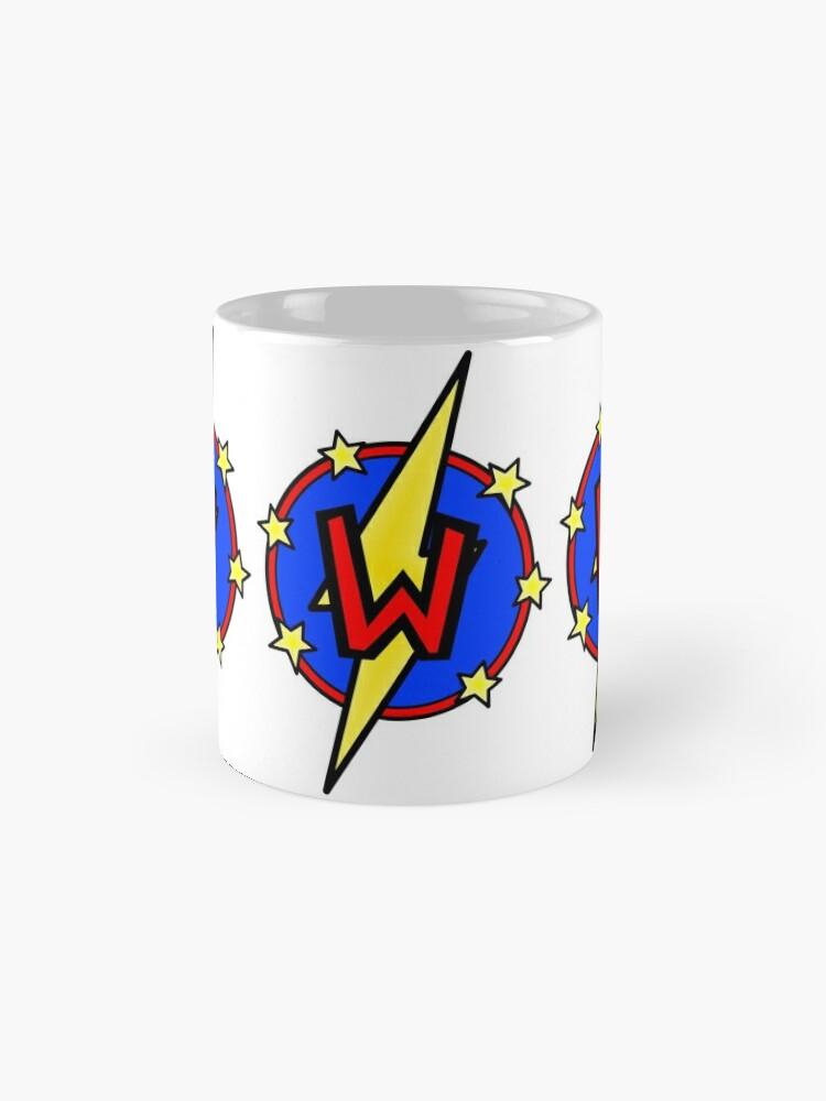 Alternate view of Cute Little SuperHero Geek - Super Letter W Mug