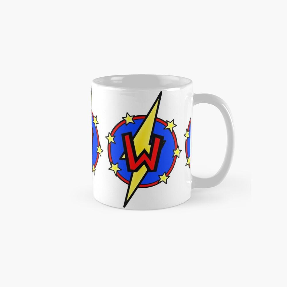 Cute Little SuperHero Geek - Super Letter W Mug