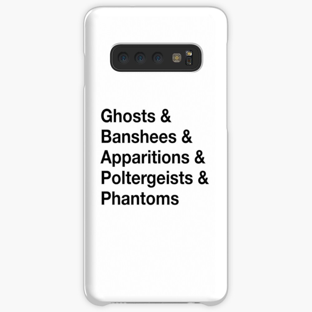 Ghost List Case & Skin for Samsung Galaxy
