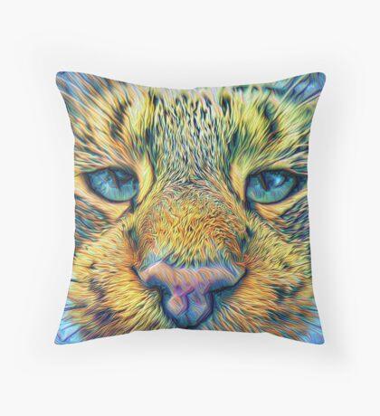 #DeepDreamed Cat v1449127170 Floor Pillow