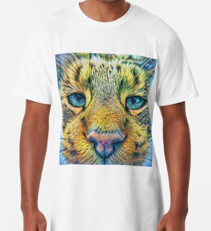 #DeepDreamed Cat v1449127170 Long T-Shirt