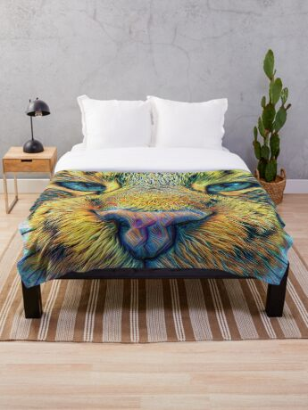 #DeepDreamed Cat v1449127170 Throw Blanket