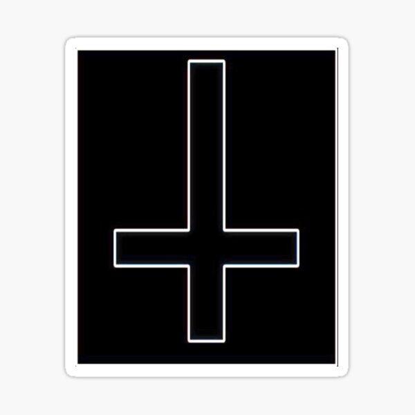 Upside Down Inverted Cross Sticker