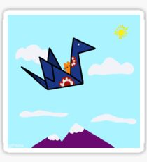Origami Airlines Glossy Sticker
