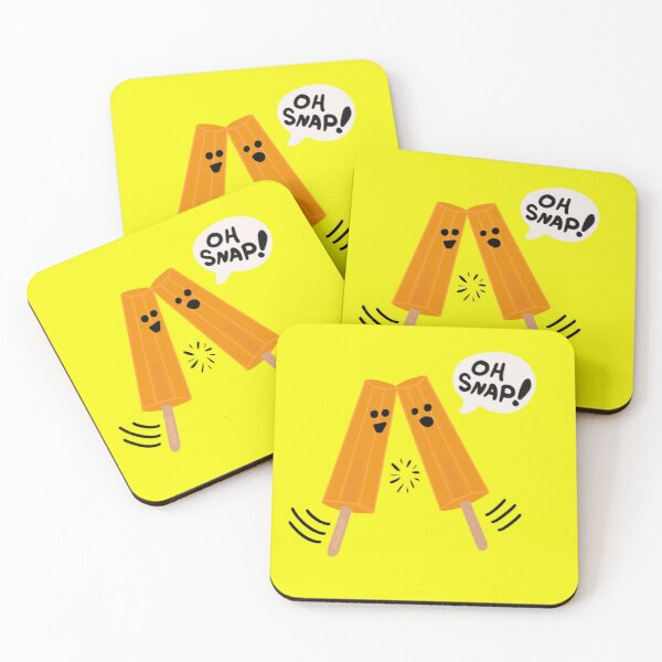 Oh Snap! (Popsicles Split Up) Coasters (Set of 4)