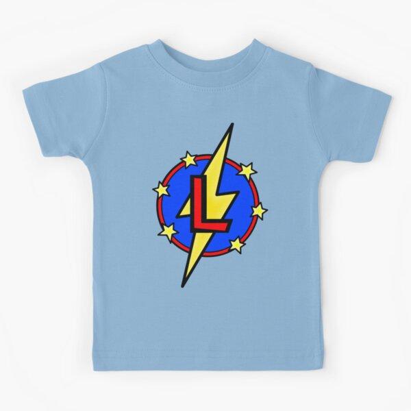 Cute Little SuperHero Geek - Super Letter L Kids T-Shirt