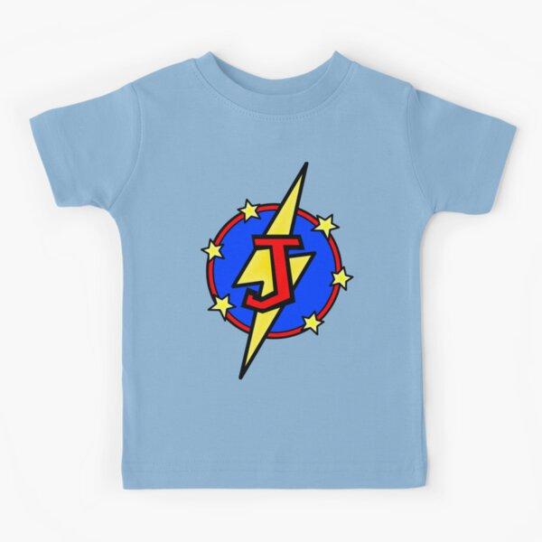 Cute Little SuperHero Geek - Super Letter J Kids T-Shirt