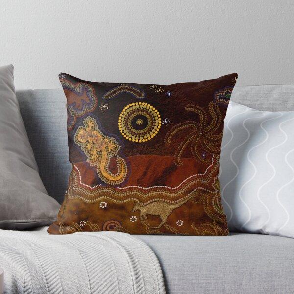 Desert Heat (Australian Outback Art) Throw Pillow