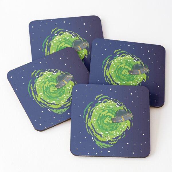 Spaceship Coasters (Set of 4)