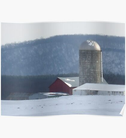 cold winter day in the country Poster