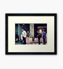 George Romero on Location  Framed Print