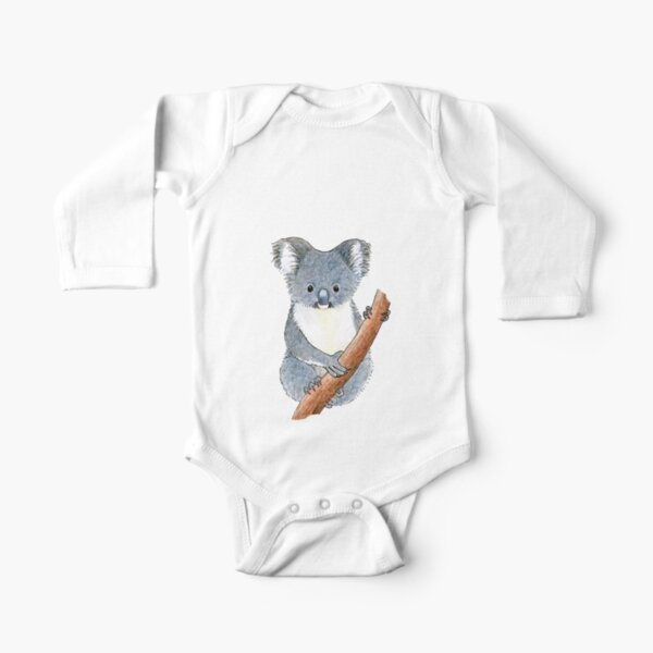 Gorgeous koala - Raising funds for the RSPCA Queensland Long Sleeve Baby One-Piece