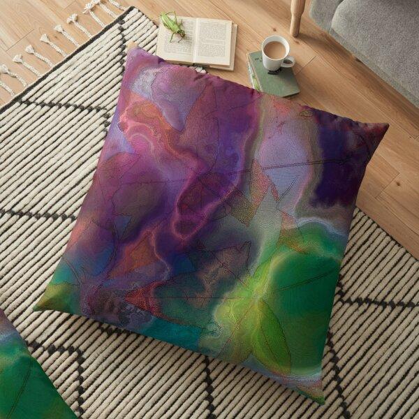 Vibrant Decay 4 Floor Pillow