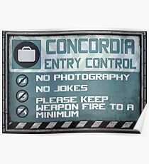 Concordia Entry Control Poster