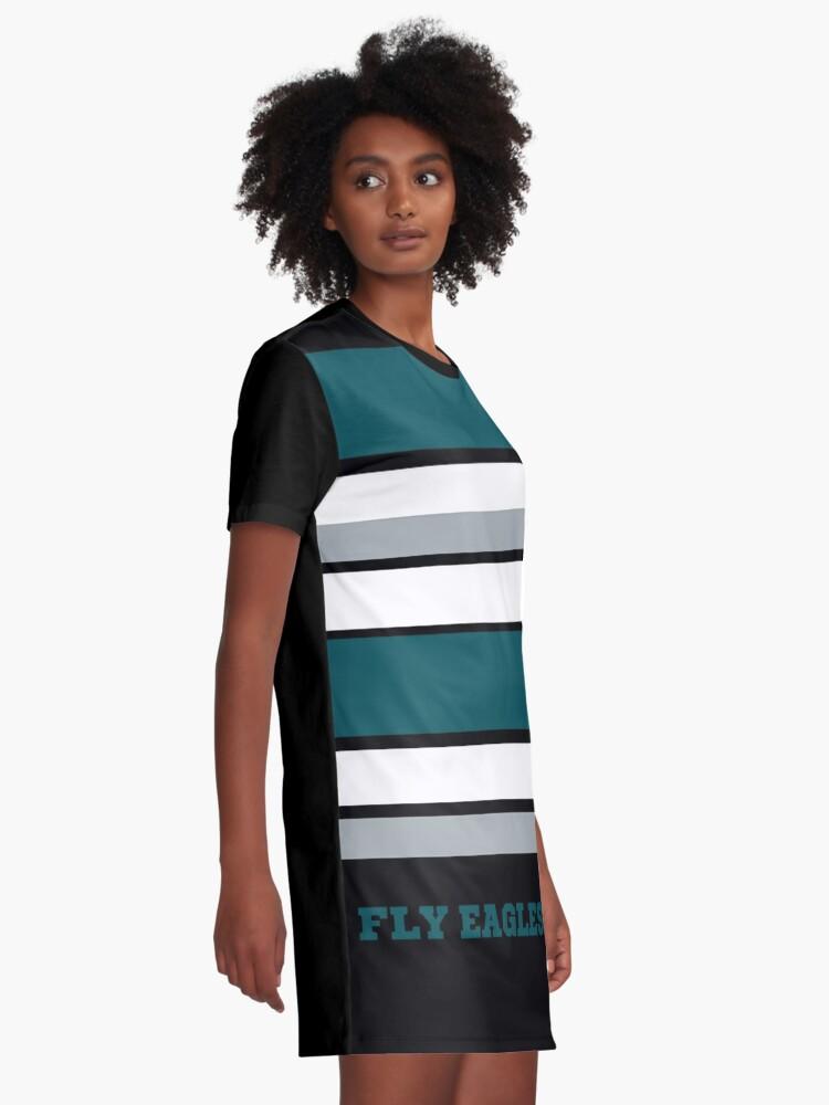 Alternate view of Eagles Fly Philadelphia Football Graphic T-Shirt Dress
