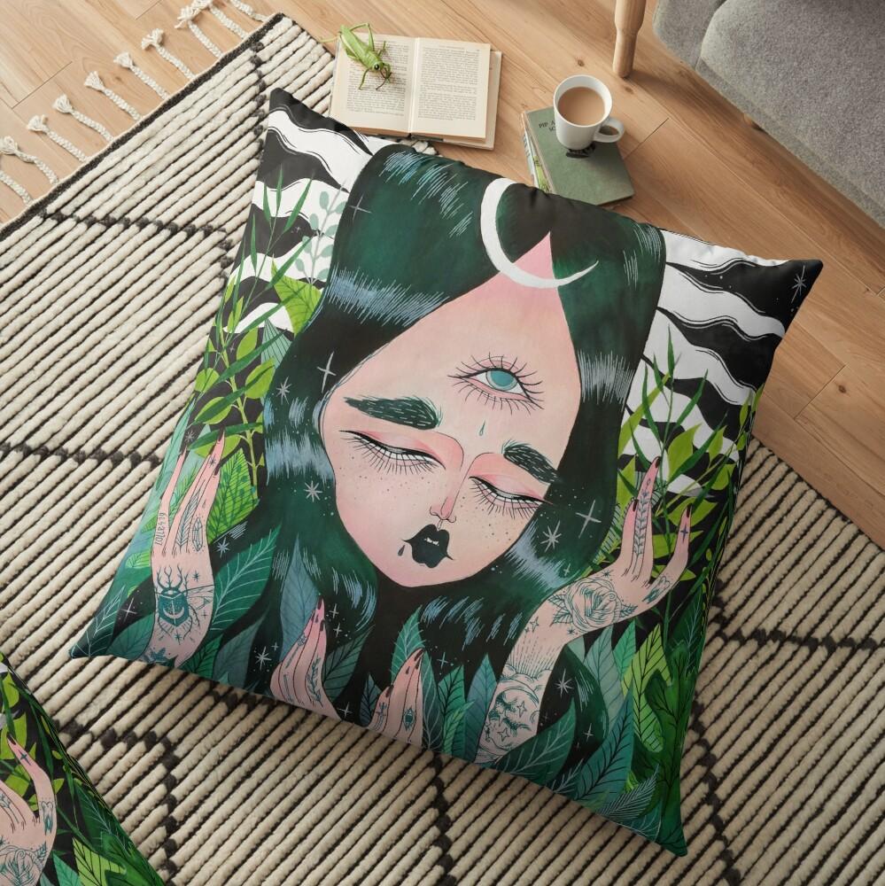 New Leaf Floor Pillow