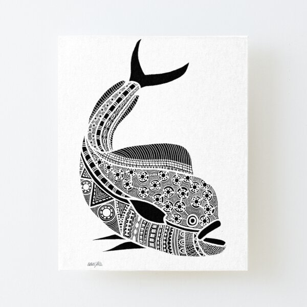 #530 - NATHALIE LE RICHE - ART and GIFTS - BNW MAHI MAHI GOLDEN DOLPHIN FISH - Connected  Canvas Mounted Print