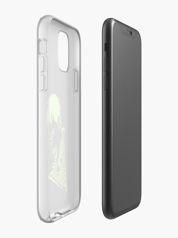 Coque iPhone «Néons 3d chair de poule», par mensijazavcevic