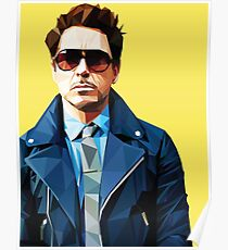 Robert Downey Jr - Low Poly Vector Poster