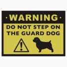 Funny Norfolk Terrier Guard Dog Warning by Jenn Inashvili