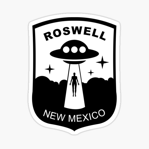 ROSWELL NEW MEXICO UFO CONSPIRICY PATCH Sticker
