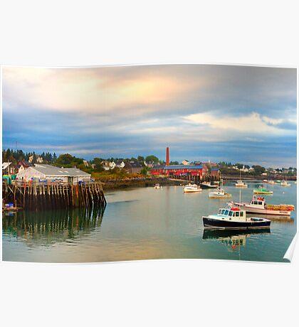 Pier, Boats, Jonesport, Maine Poster