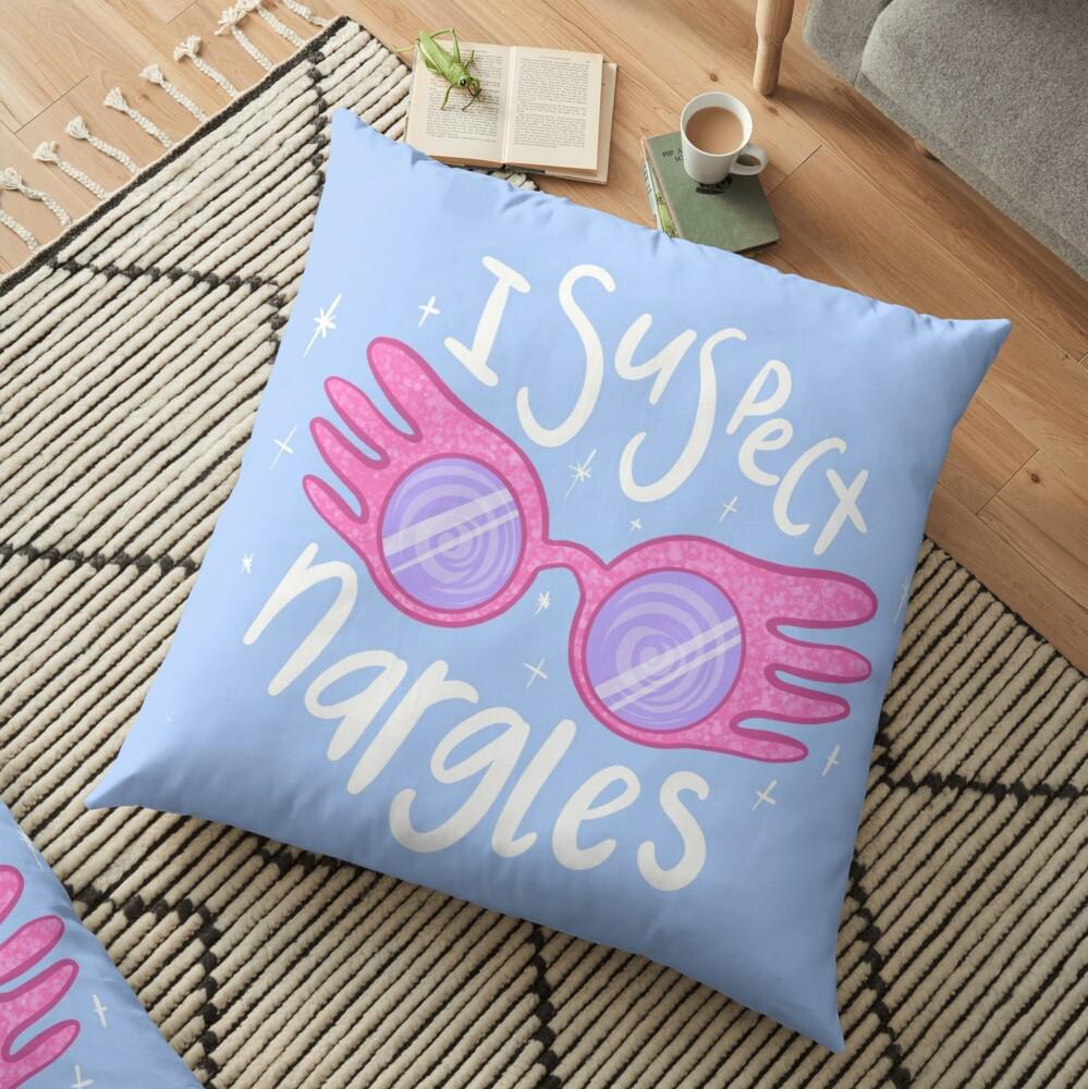 I suspect Nargles - Luna Lovegood Floor Pillow