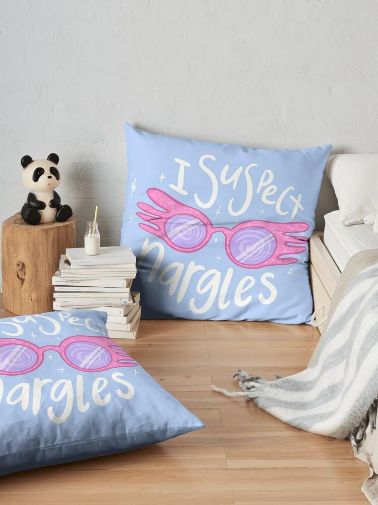Alternate view of I suspect Nargles - Luna Lovegood Floor Pillow